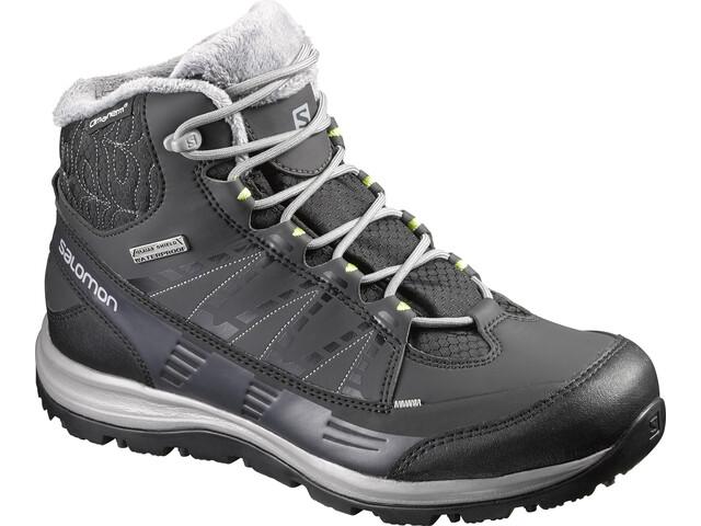 Salomon W's Kaïna CS WP 2 Shoes Black/Asphalt/Flashy-X